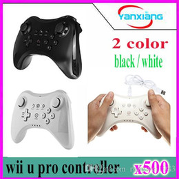 Wholesale Motor Shocks - 500pcs Wii U Pro controller- Wireless Bluetooth Dual Analog Built in Battery Single Motor Controller for Nintendo Wii U Pro YX-WUII