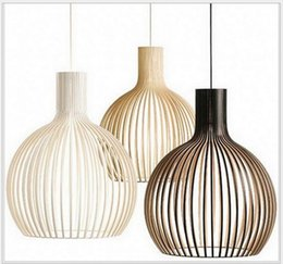 Wholesale Large Iron Pendant Light - Vintage America Countryside E27 220V Large Medium Small Size Birds Cage Metal Iron Wires Pendant Lights Lamp Indoor Lighting Fixtures