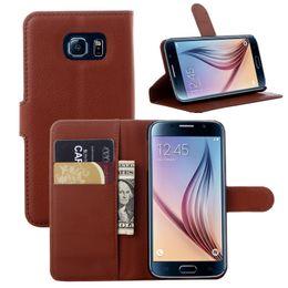 Wholesale Colorful Pu Leather Wallet - 2016 Newest Colorful wallet PU Leather Case For Samsung Galaxy S6, S6Edge , S6 Edge Plus , S7 ,S7 plusS7 Edge support holder slot card case