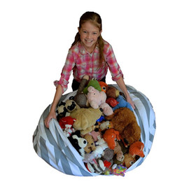 Wholesale Kids Playing Mats - Kids Storage Bean Bag 80CM Creative Modern Storage Stuffed Animal Storage Chair Play Mat Clothes Organizer Tool OOA3372
