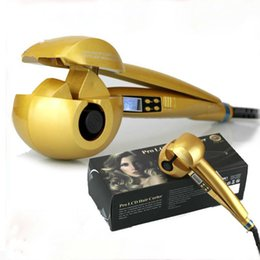 Wholesale Magic Time - Professional Hair Curler cabelo Ferramentas Cerâmica rolo do cabelo Onda LCD Cabelo automática Magic Stick Ferro Curling instrumento de bele
