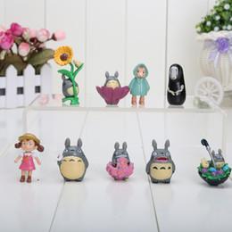 Wholesale Cute Mini Anime Figures Set - cute 9pcs set anime My Neighbor Totoro mini Figure toys pvc action figure approx 3-6CM
