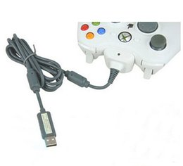 Wholesale Usb Xbox Cable - 2 in 1 Xbox 360 game controller USB cable date connecting line paly charger adapter charging for xbox360 controller gamepad joystick new