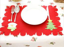 Navidad decorativos manteles cubiertos de mesa Santa muñeco de nieve árbol de navidad renos decoración tapetes decoración de fiesta de mesa corredor 3 estilos desde fabricantes