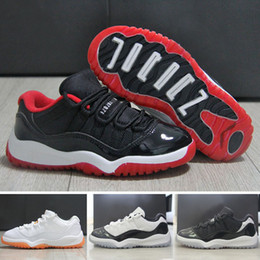 Wholesale Girls Cheap Patent Shoes - Cheap air retro 11 Basketball Shoes with Patent Leather Material for Outdoor Fashion Kids Athletic Shoes for Boys and Girls