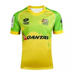 Wholesale Thailand Jersey Wholesalers - NEW 2016-2017 AUSTRALIAN SEVENS RUGBY jersey 15 16 17 Top Thailand quality RWC NRL Super SEVENS home and away Shirts Free Shipping by DHL