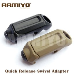 """Wholesale Rail Sling - Armiyo 1.25"""" Loop Quick Release Rail Steel Swivel Sling Buckle Attachment Mount Adapter Fit Airsoft Multi Mission Sling Hunting"""