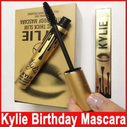 Wholesale Wholesale Slim Fast - Newest Kylie Jenner Mascara Magic thick slim waterproof mascara Black Eye Mascara Long Lasting Eyelash creams birthday gold package