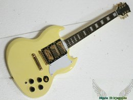 Wholesale New Arrival Electric Guitar Gold - Cream 3 Pickups SG Electric Guitar Gold Hardware New Arrival Wholesale Guitars HOT