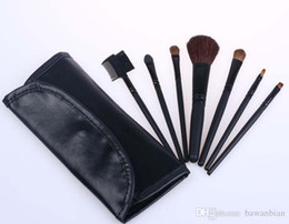 Wholesale Brush Set Numbers - Wholesale-wholesale New Cosmetics MC 7Pieces  set Brush Set With number + leather Pouch for women beauty free shipping