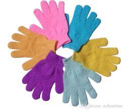 Wholesale Body Massage Scrub - Exfoliating Gloves Skin Body Bath Shower Loofah Sponge Mittens Scrub Massage Spa Bath Finger Gloves CCA5490 1000pcs