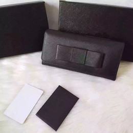 Wholesale Card Bows - very fashion bow style excellent quality brand designer genuine leather wallet for women free shipping