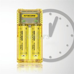 Wholesale Battery Fast Charger - Authentic Nitecore Q2 Inteligent Charger 1000ma 2A Fast Charging Dual 18650 207000 21700 Battery Charger Vape Chargers 100% Original