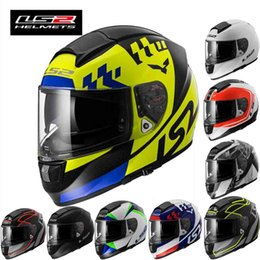 Wholesale Bluetooth Helmet Full - 2016 new double lenses LS2-FF397 full face motorcycle helmet Glass steel motorbike helmets strip Bluetooth groove 10 kinds of colors