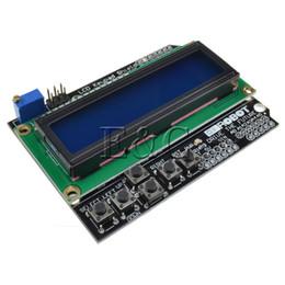 Gros-nouveau 1602 LCD panneau clavier bouclier rétro-éclairage bleu pour Arduino Duemilanove Robot ? partir de fabricateur