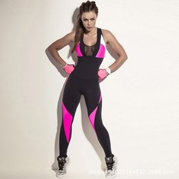 Wholesale Teddies Women S Clothing - Sexy Women Sports Yoga Workout Fitness Leggings Pants Slim Jumpsuit Rompers Teddies Bodycon Athletic Clothes Sleeveless