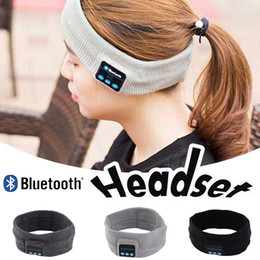 Wholesale Music Hair - Bluetooth Earphone Handband Edge Yoga Hat Sport Cap Headset Wireless Hand Band Earplug Music Player Handphone Handfree Beanieb Hair Band