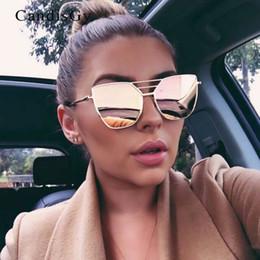 Wholesale wholesale cat eye frames - Fashion luxury cat eye sunglasses Metal Box Colorful sunglasses for women Fashion Big Frame Sunglasses Wear Comfortable Good Comfortable