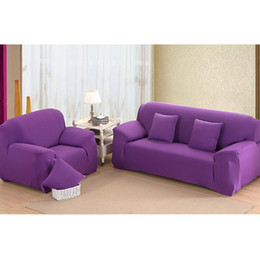 Wholesale Spandex Polyester Fabric - Drop Shipping Solid Color Soft All-inclusive Fabric Cover Sofa Slipcover Elastic Sofa Cover Couch Cover for 1 2 3 4 Seats JC0239