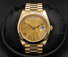 Wholesale Ct Steel - 2017 Mens Day-Date 228238 Champagne Roman Dial 40mm NEW IN BOX 2017 stainless steel 18 ct yellow gold mechanical movement Wristwatch