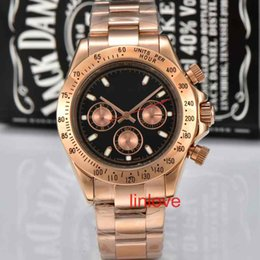 Wholesale Diver Brand Watch Automatic - Mens Men Multi-functional Stainless Steel Strap 116500LN AAA Quality Luxury Brand Wristwatch Role Watch Rose Gold Fashion Casual Watches