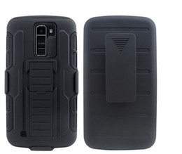 Wholesale Hard Holster - For LG K10 M2 V10 Stylus 2 K520 G Stylo Ls770 Belt clips Holster Hard Plastic silicone Rugged skin cover kickstand stand case 1pcs 5pcs