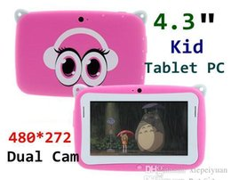 Wholesale Dual Core 512ram - 4.3 inch Android 4.2 OS Kids Tablet PC for Children with Wifi Dual Camera RK2926 CPU 512RAM 4GB ROM tablet pc for Kids Gift TA4