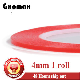 Wholesale Adhesive Sticky Glue Tape - Wholesale- 2016 1x (0.2mm Thick) 4mm *25M High Strength Transparent Acrylic Glue Sticky Double Adhesive Tape with Red Film fit for Cellpho