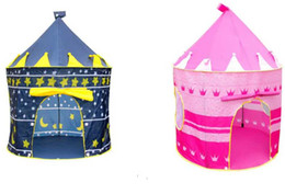 Wholesale Palace Prince - Prince and Princess Children's Tent Palace Castle Children Playing Indoor Outdoor Toy Tent colors mixed