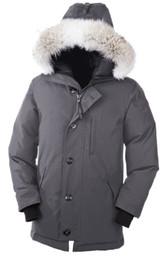 Wholesale Velvet Top Hat - 2018 Top Copy New Arrival sale men's Down parka Chateau Black Navy Gray Jacket Winter Coat  Parka Fur sale With Free Shipping Outlet