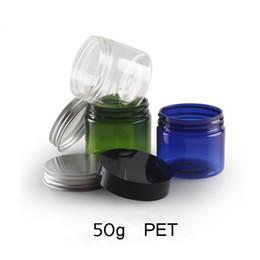 Wholesale Pet Plastic Film - 30pcs 50g PET Plastic Cosmetic Jar Empty With Lids Lotion Film Box Makeup Round Bottle Face Cream Container Bead Storage