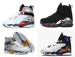 Wholesale Air Aqua - air retro 8 VIII mens Shoes aqua Chrome Playoffs Threepeat True Red Varsity Red 8 repilcas Sneakers sports Boots