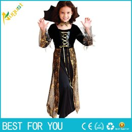 Wholesale Cute Women Halloween Costumes - Free Shipping 2015 New Beautiful Spider Girl Children Cosplay Costume Hallowean Party witch Costumes for Kids Cute Dresses