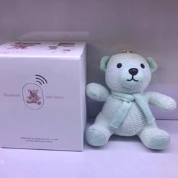 Wholesale bear speakers - Xmas Gift Speaker Bluetooth Cartoon Cute Bear Dolls Toy Wireless Subwoofers Speakers Outdoor For iphone8 iphoneX Samsung Kids Christmas Hot
