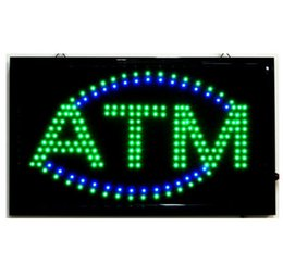Wholesale Led Display Signs Wholesale - 20PCS Lot wholesale price 2016 new arrival hot sell led open sign green colour led display board 19''x10''x0.5'' free shipping led ATM sign
