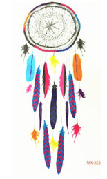 Wholesale Color Eye Stickers - Wholesale-2016 NEW 10x6cm Temporary Small Fashion Tattoo Cool Color Dreamcatcher Waterproof Temporary Tattoo Stickers