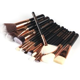 Wholesale Good Wood Pieces - 15 Pieces  Set Good Quality Makeup Brushes Professional Foundation Powder Blush Cosmetics Make Up Brush Tools Brand Maange #92143