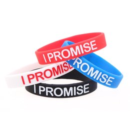 Wholesale I Promise - ISHOW Lebron James I Promise Wristband Bracelet Colorful Silica gel Valentine Powerful Energy Sports Bracelet for Men and Women
