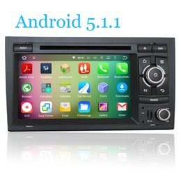 Wholesale Dvd Player Audi A4 - Android 5.1.1 Car DVD Player For SEAT EXEO S4 RS4 8E 8F B9 B7 Audi A4 2002 2003 2004 2005 2006 2007 RNS-E HD 1024*600