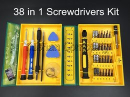 Wholesale Watch Case Tool Set - 38 in 1Precision Multipurpose Screwdriver Set Repair Opening Tool Kit Fix For Iphone  laptop  smartphone  watch with Box Case