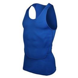 Wholesale Wholesale Basketball Vests - Wholesale-Men Gym Sports Basketball Jersey Training Vest Tank Top Quick-dry Bodybuilding Vest Tights Tops Undershirt