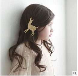 Wholesale Wholesale China Like Plates - Children's hair accessories babies prefer ornaments fawn hair clips very cute you will like it