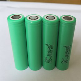 Wholesale E Batteries Rechargeable - 100% High Quality Samsung 25R 18650 INR Battery 2500mAh 3.7V 20A Rechargable Lithium For E Cig Box Mod