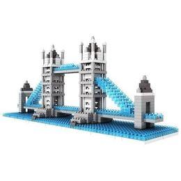 Wholesale Tower Bridge Model - Wholesale-2016 NEW Loz Micro Blocks, British Tower Bridge Model, Small Building Block Set, Nanoblock Compatible