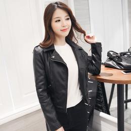 Wholesale Leather Jacket Women Xxl - Wholesale-2016 New Leather Jacket Womens Jacket Coat Jaqueta de Couro Feminino Plus Size XXL PU Leather Jackets For Women Jackets