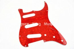 Wholesale Strat Pickguard Ply - Pearl Red Tortoise 4 PLY Electric Guitar Pickguard For Fender Strat Style Electric Guitar Free Shipping Wholesales