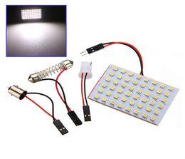 Wholesale Led Dome 48 - High Power 1210 48 SMD LED White Car LED Interior Room Dome Door Car Light Panel Lamp Bulb