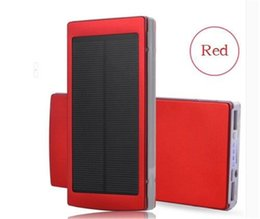 Wholesale 21 W Led - New Top 15000mAh Portable Solar Power Bank Dual USB LED Backup Charger Battery