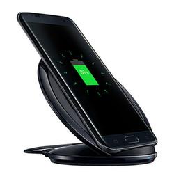 Qi беспроводной зарядное устройство черный онлайн-S7 QI беспроводное быстрое зарядное устройство Pad Mini charging черный Samsung Galaxy S6 S6 Edge s7 s7 Edge с розничной упаковке беспроводное быстрое зарядное устройство