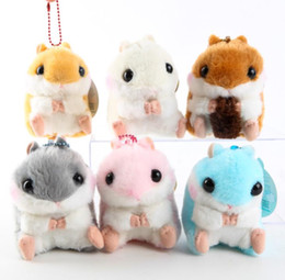 Wholesale Small Pig Plush - Japanese adorable baby Amuse, small hamster, Guinea Pig Plush beads chain pendant, hamster girl cute doll